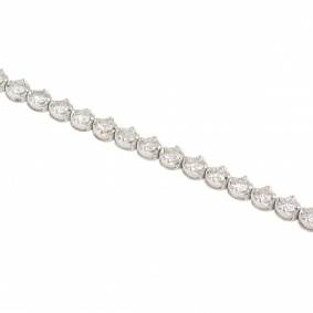 White Gold Diamond Line Bracelet 3.73ct G-H/VS1